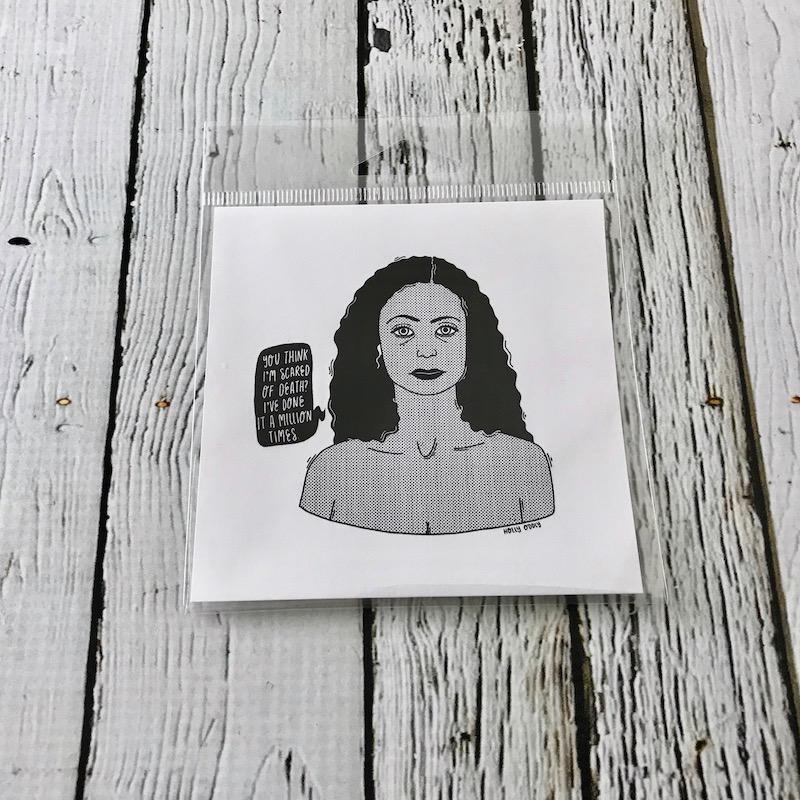Maeve (West World) 4x4 Print