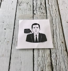 "The Office (Michael) 4""x4"" Print"