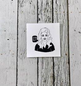 "Dolly Parton 4""x4"" Print"