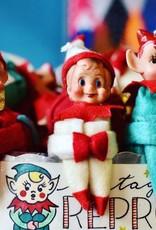 Fabric Vintage Reproduction Elf Ornament