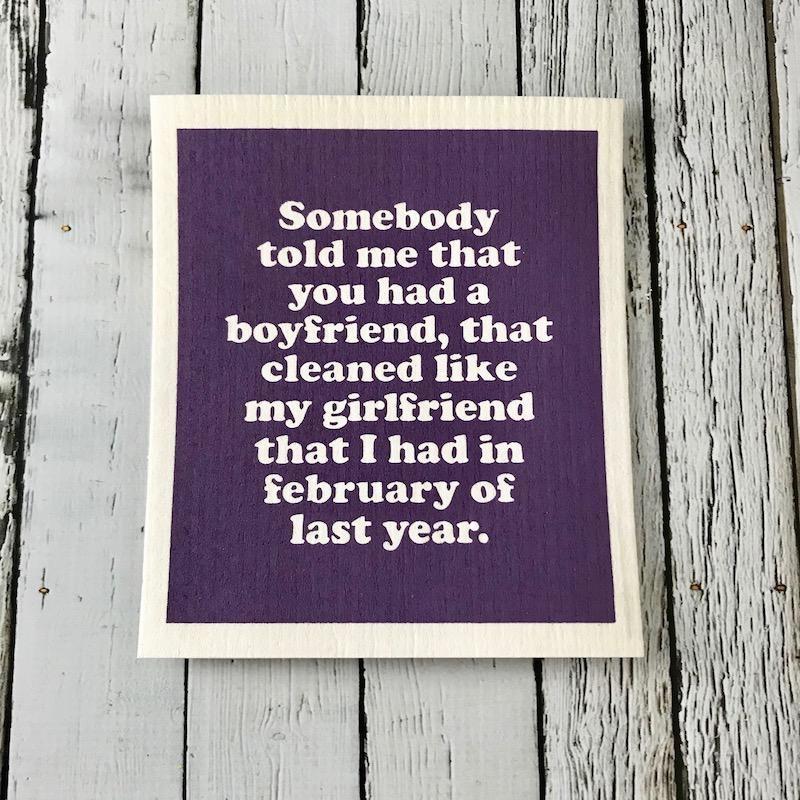Somebody Told Me Dishcloth