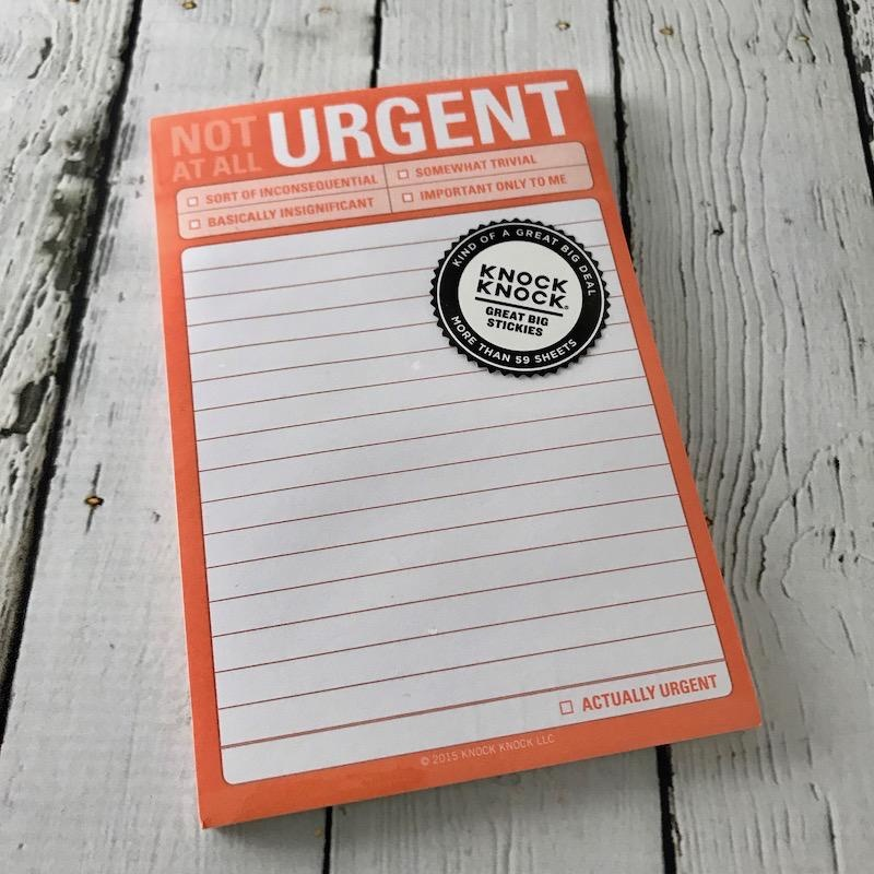 Not At All Urgent Great Big Stickies