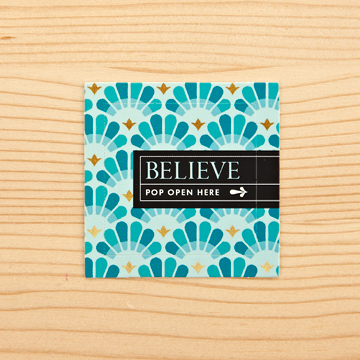 Believe Thoughtfuls Box, set of 30 window cards