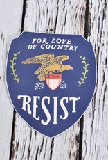 For The Love Of Our Country Resist Sticker