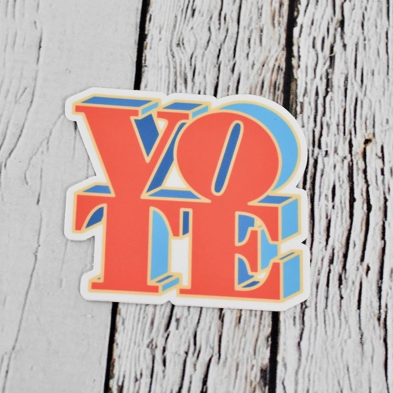 Red and Blue Vote Sticker