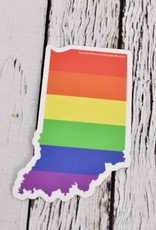 Rainbow Indiana Sticker