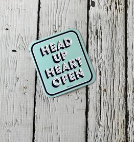 Head Up Heart Open Sticker