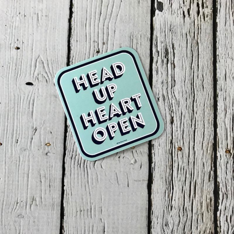 Head Up Heart Open Sticker