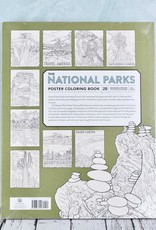 National Parks Poster Coloring Book