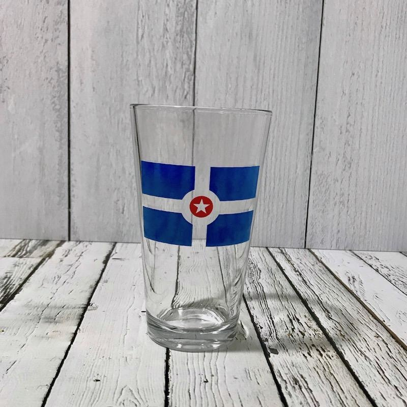 Indianapolis Flag Pint Glass