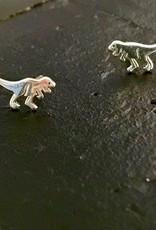 Sterling Silver T Rex Stud Earrings
