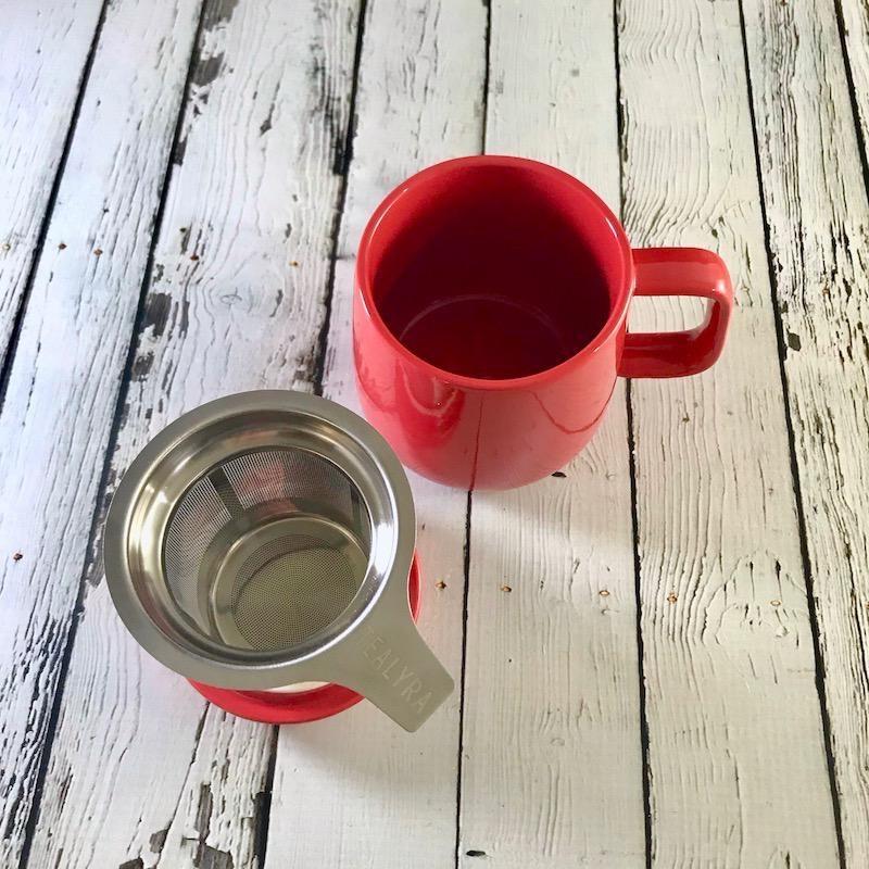 Red 13.5oz Mug with Infuser