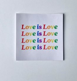 Rainbow Love Is Love Sticker