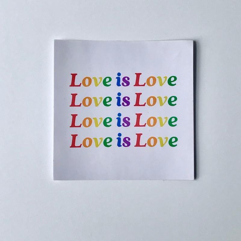 Rainbow Love Is Love Sticker