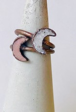 Electroplated Copper and Crescent Moon-Shaped Ring