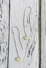 Handmade Silver Earrings with labradorite briolette threader