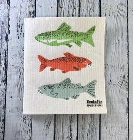 Gone Fishin' Swedish Spong Cloth