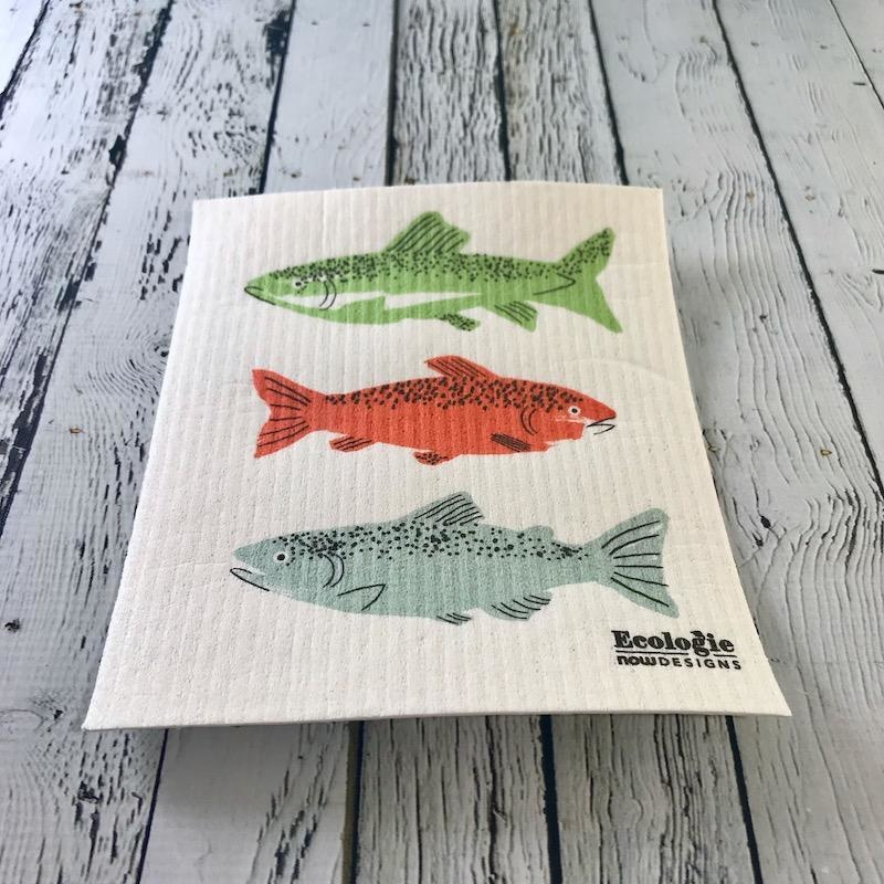Gone Fishin' Swedish Spong Cloth
