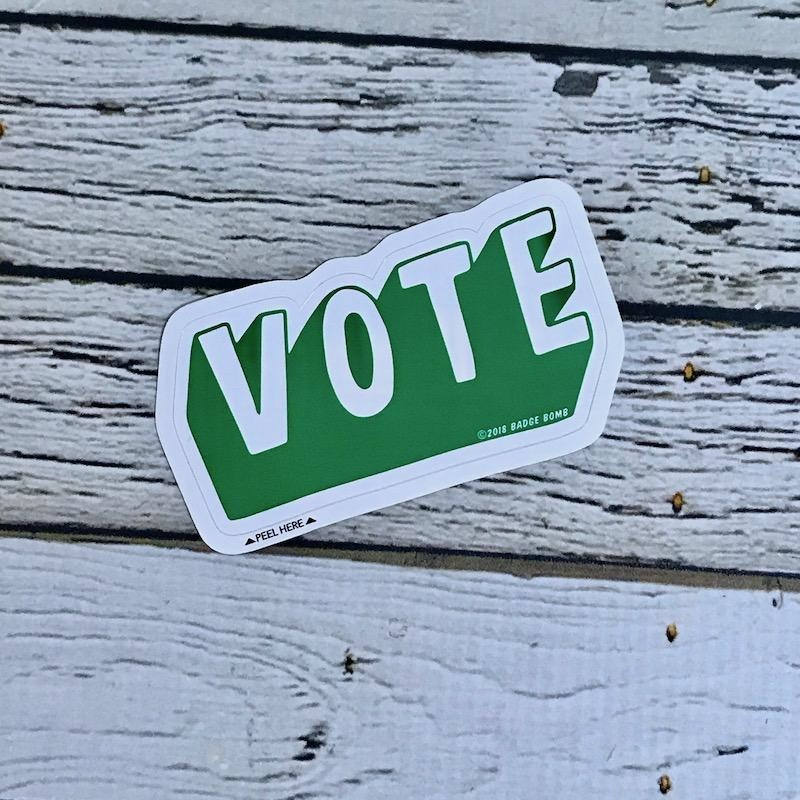 Green VOTE Sticker