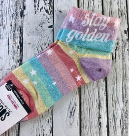 Stay Golden Turn Cuff Women's Socks