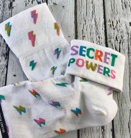 Secret Powers Turn Cuff Women's Socks
