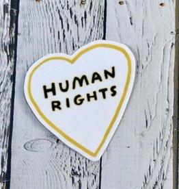 Human Rights Heart Sticker