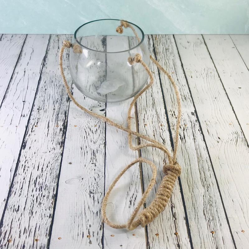 """5""""H Hanging Tealight Holder/Vase"""