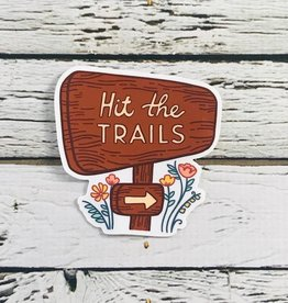 Hit The Trails Sticker