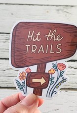 Hit The Trails Sticker