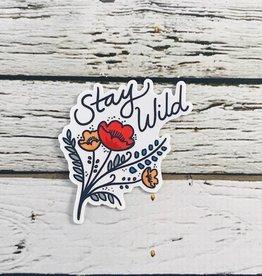 Stay Wild Wildflowers Stickers