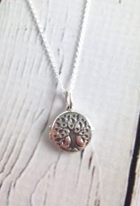 Sterling Silver Necklace with Tree Pendant