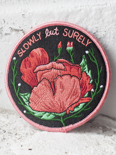Slowly But Surely Iron-On Patch