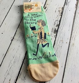 Long Walks Library Women's Crew Socks