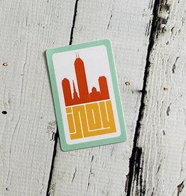 Indy City Skyline Sticker