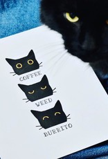 Coffee Weed Burrito Letterpress Print