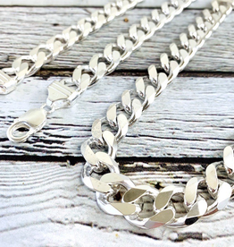 Sterling Silver Heavy Curb 350 (12mm) Chain