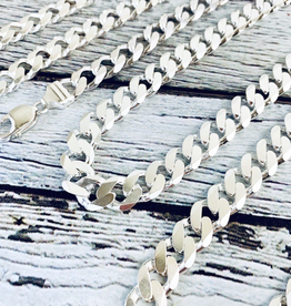 Sterling Silver Mid-Heavy Curb 300 (11mm) Chain
