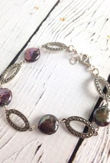 """Sterling Silver and Marcasite Bracelet, 7.5"""""""