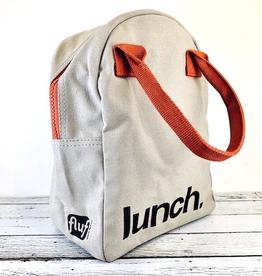 Rust/Grey Lunch Zipper Tote
