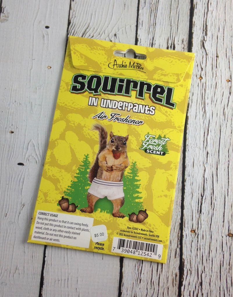 Squirrel in Underpants Air Freshner