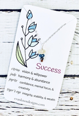Handmade Silver Necklace with Success Gemstones