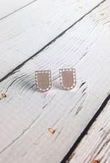 Silver Portal Stud Earrings by Molly M. Designs