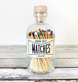 Vintage Apothecary Matches in Rainbow