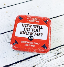 After Dinner Amusements:How Well Do You Know Me?50 Questions for Family and Friends