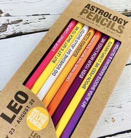 Leo Astrology Pencil Set