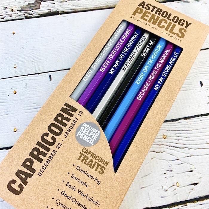 Capricorn Astrology Pencils