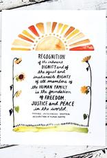 "UN Human Rights Preamble Print 8.5""x11"""