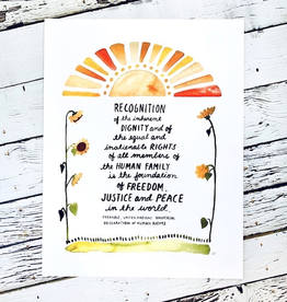 "UN Human Rights Preamble Print 8.5""x11"""