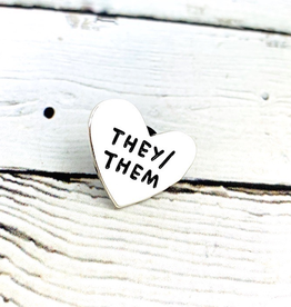 They/Them Pronoun Heart Pin