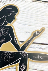 Mudflap Rude Girl Sticker